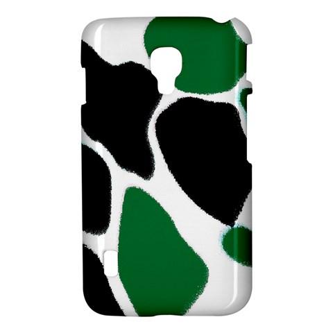 Green Black Digital Pattern Art LG Optimus L7 II