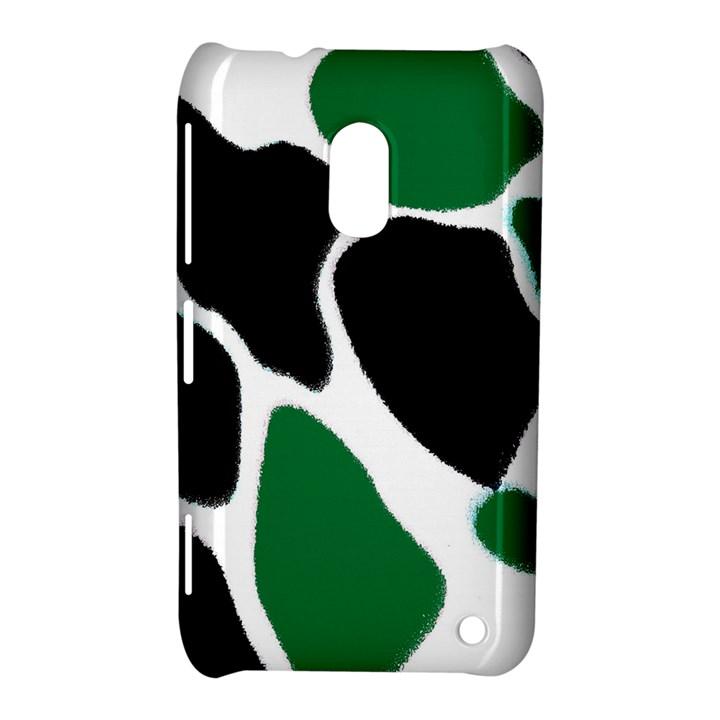 Green Black Digital Pattern Art Nokia Lumia 620