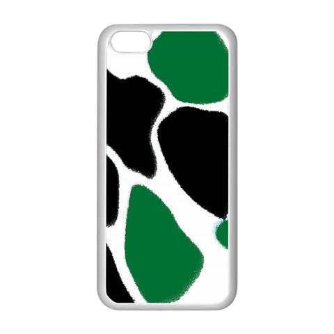 Green Black Digital Pattern Art Apple iPhone 5C Seamless Case (White)