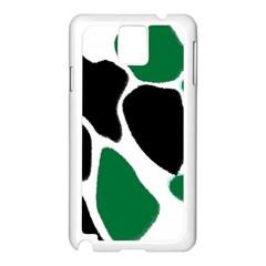 Green Black Digital Pattern Art Samsung Galaxy Note 3 N9005 Case (White)