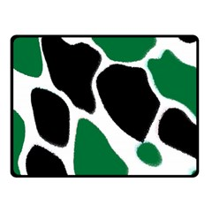 Green Black Digital Pattern Art Double Sided Fleece Blanket (Small)