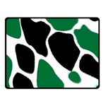 Green Black Digital Pattern Art Double Sided Fleece Blanket (Small)  50 x40 Blanket Back