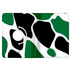 Green Black Digital Pattern Art Kindle Fire HDX Flip 360 Case