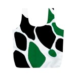 Green Black Digital Pattern Art Full Print Recycle Bags (M)  Front