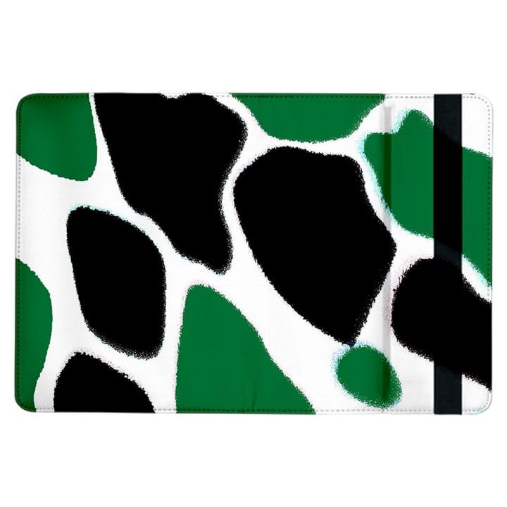 Green Black Digital Pattern Art iPad Air Flip