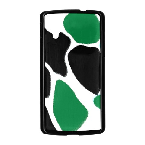 Green Black Digital Pattern Art Nexus 5 Case (Black)