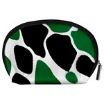 Green Black Digital Pattern Art Accessory Pouches (Large)  Back