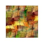 Indian Summer Funny Check Small Satin Scarf (Square) Front