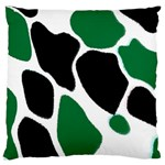 Green Black Digital Pattern Art Large Flano Cushion Case (Two Sides) Back