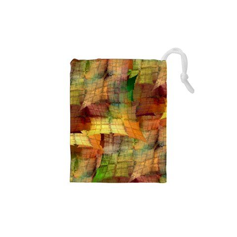 Indian Summer Funny Check Drawstring Pouches (XS)