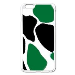 Green Black Digital Pattern Art Apple iPhone 6 Plus/6S Plus Enamel White Case