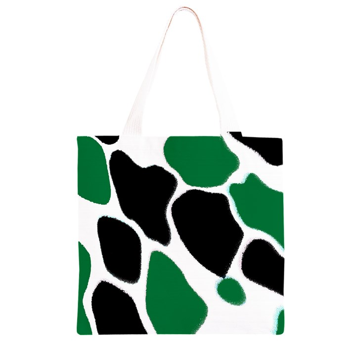 Green Black Digital Pattern Art Grocery Light Tote Bag