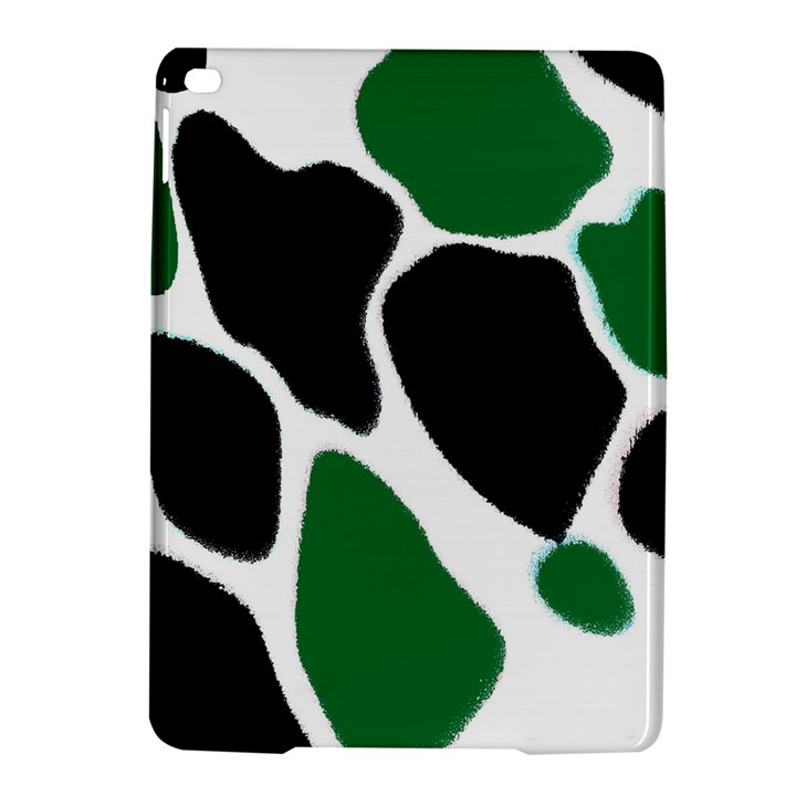 Green Black Digital Pattern Art iPad Air 2 Hardshell Cases