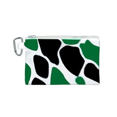 Green Black Digital Pattern Art Canvas Cosmetic Bag (S)