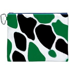 Green Black Digital Pattern Art Canvas Cosmetic Bag (XXXL)