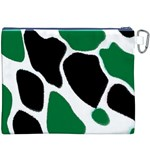 Green Black Digital Pattern Art Canvas Cosmetic Bag (XXXL) Back