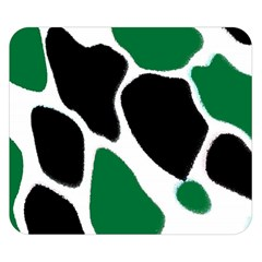 Green Black Digital Pattern Art Double Sided Flano Blanket (Small)