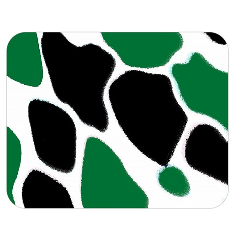 Green Black Digital Pattern Art Double Sided Flano Blanket (Medium)