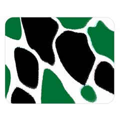 Green Black Digital Pattern Art Double Sided Flano Blanket (Large)