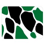 Green Black Digital Pattern Art Double Sided Flano Blanket (Large)  80 x60 Blanket Front