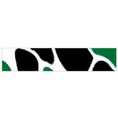 Green Black Digital Pattern Art Flano Scarf (Small)