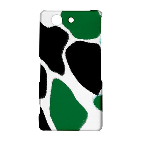 Green Black Digital Pattern Art Sony Xperia Z3 Compact