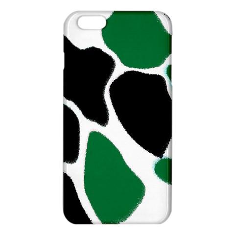 Green Black Digital Pattern Art iPhone 6 Plus/6S Plus TPU Case