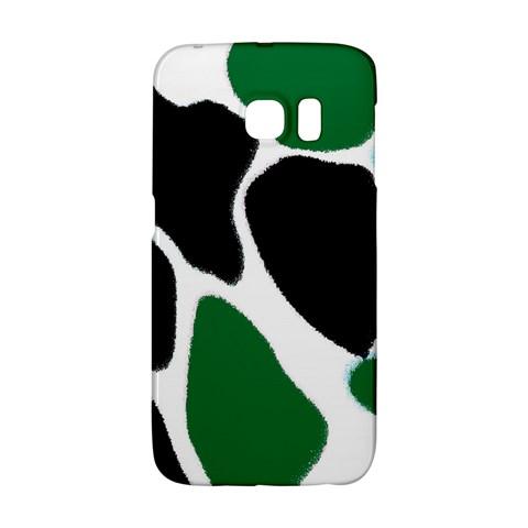 Green Black Digital Pattern Art Galaxy S6 Edge