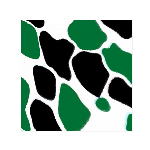 Green Black Digital Pattern Art Small Satin Scarf (Square)