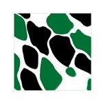 Green Black Digital Pattern Art Small Satin Scarf (Square) Front