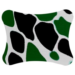 Green Black Digital Pattern Art Jigsaw Puzzle Photo Stand (Bow)