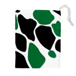 Green Black Digital Pattern Art Drawstring Pouches (Extra Large) Front