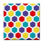 Hexagon Pattern  Tile Coasters Front