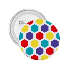 Hexagon Pattern  2.25  Buttons