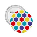 Hexagon Pattern  2.25  Buttons Front