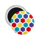 Hexagon Pattern  2.25  Magnets Front