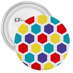 Hexagon Pattern  3  Buttons