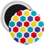 Hexagon Pattern  3  Magnets Front