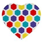 Hexagon Pattern  Ornament (Heart)  Front