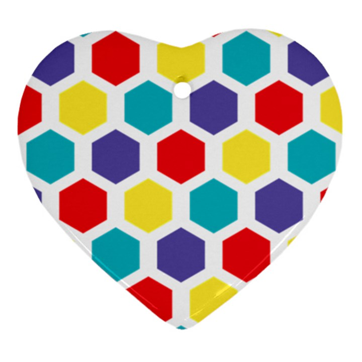 Hexagon Pattern  Ornament (Heart)