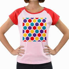 Hexagon Pattern  Women s Cap Sleeve T-Shirt
