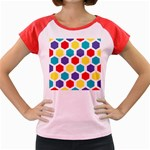 Hexagon Pattern  Women s Cap Sleeve T-Shirt Front