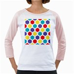 Hexagon Pattern  Girly Raglans Front