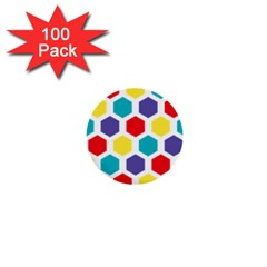 Hexagon Pattern  1  Mini Buttons (100 pack)