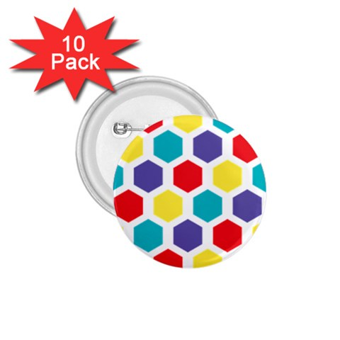 Hexagon Pattern  1.75  Buttons (10 pack)