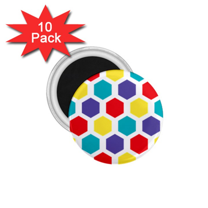 Hexagon Pattern  1.75  Magnets (10 pack)
