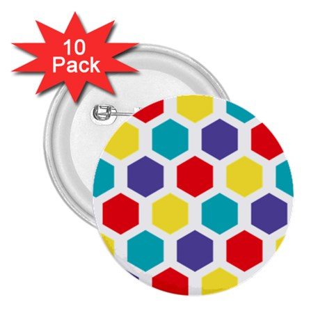 Hexagon Pattern  2.25  Buttons (10 pack)