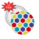 Hexagon Pattern  2.25  Buttons (10 pack)  Front