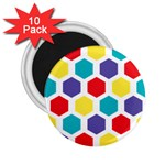 Hexagon Pattern  2.25  Magnets (10 pack)  Front