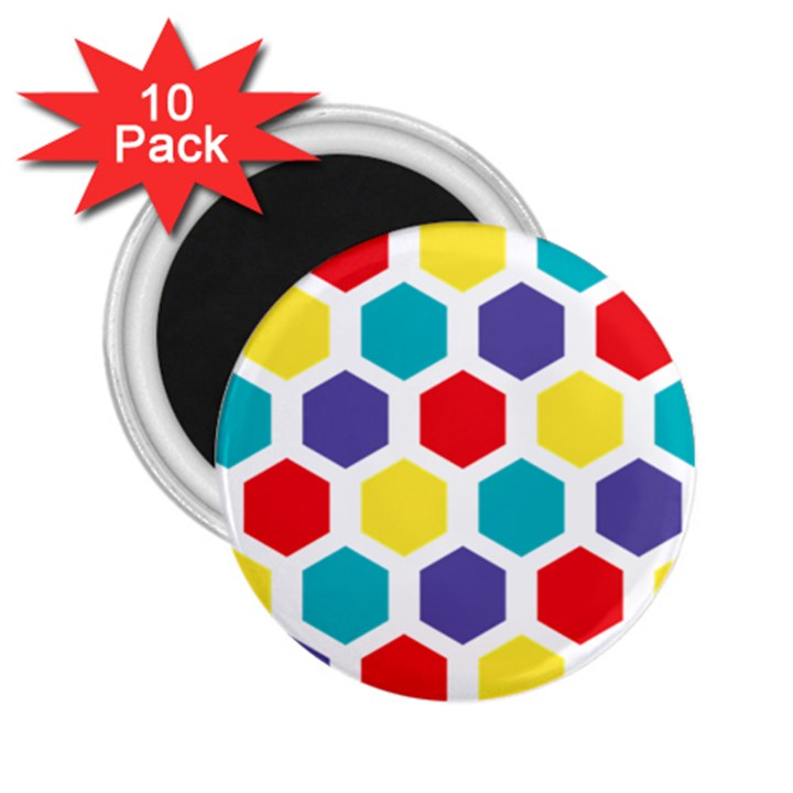 Hexagon Pattern  2.25  Magnets (10 pack)